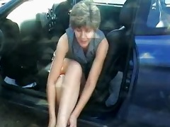 Mature Granny Fucked in Car