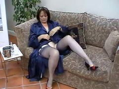 stockings mature solo